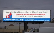 Separation of Church and sate billboard for RR