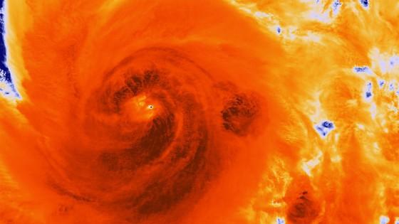 Hurricane Sandy Infrared