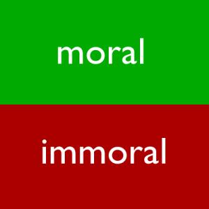 moral-immoral