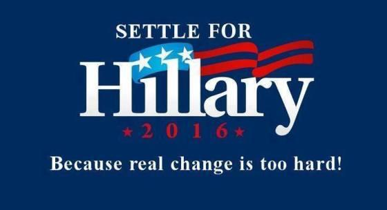Settle for Hillary