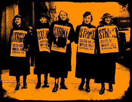 Women Cotton Workers Strike_graphic image